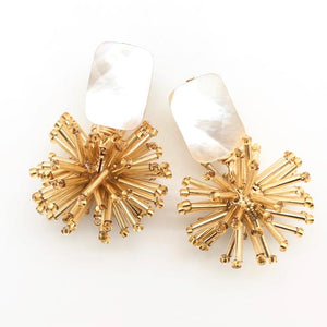 Shiver and Duke Celeste Earrings in Gold