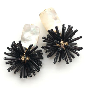Shiver and Duke Celeste Earrings in Black