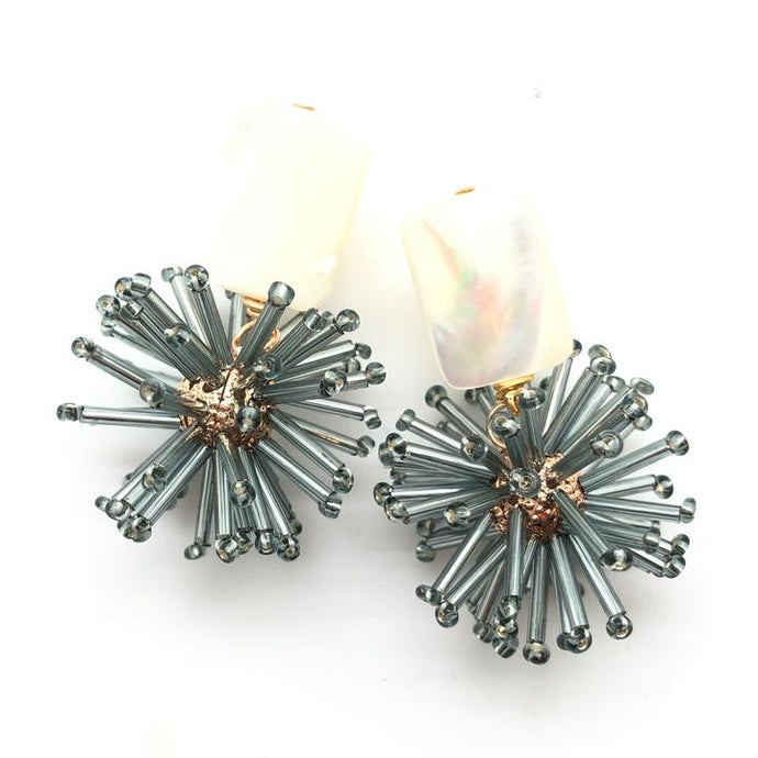Shiver and Duke Celeste Earrings in Gunmetal