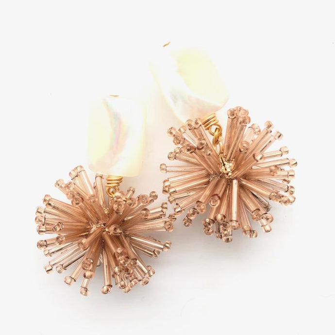 Shiver and Duke Celeste Earrings in Rose