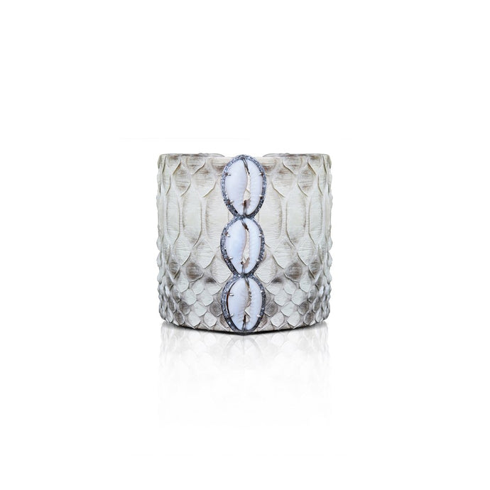 S. Carter Designs Natural Cowrie Python Cuff