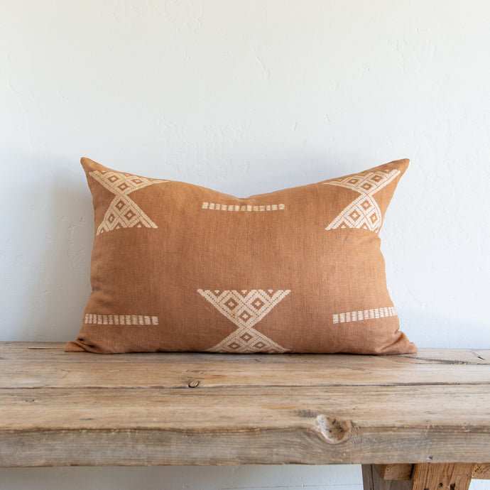 Terracotta Print Pillow