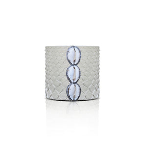 S. Carter Designs Off-White Cowrie Python Cuff