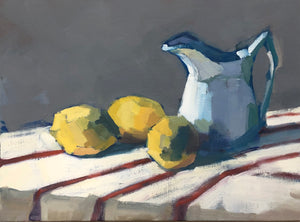Lesley Powell - Three Lemons and Creamer