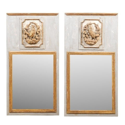 French Painted Trumeaux Mirrors