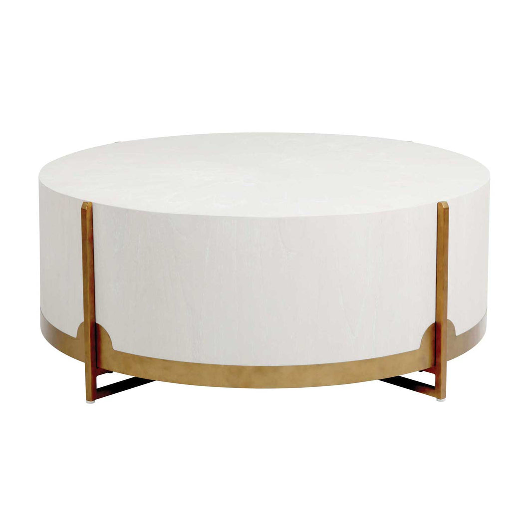 White Oak Drum Coffee Table