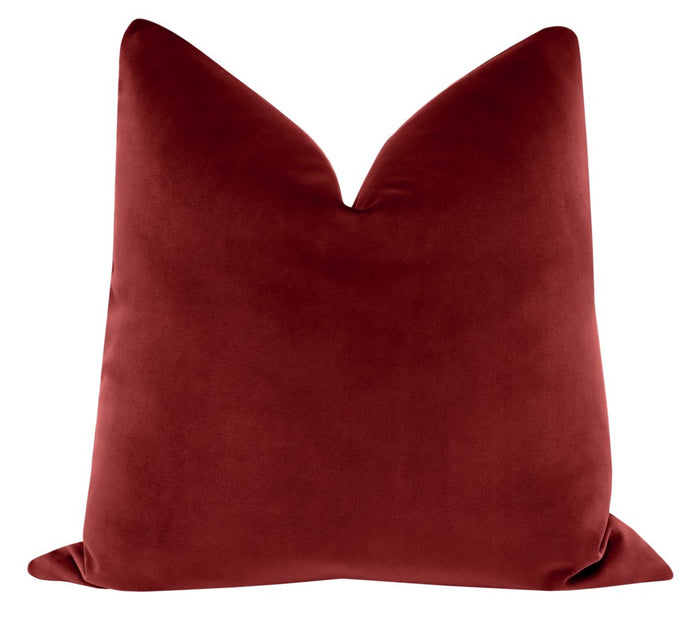 Crimson velvet pillow