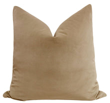 Load image into Gallery viewer, Nutmeg velvet pillow