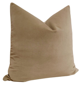 Nutmeg velvet pillow
