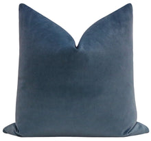 Load image into Gallery viewer, Capri Blue velvet pillow