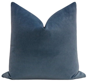 Capri Blue velvet pillow