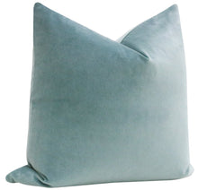 Load image into Gallery viewer, cerulean velvet pillow