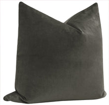 Load image into Gallery viewer, Charcoal velvet pillow