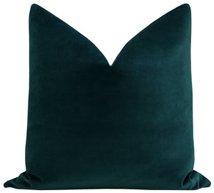 Harbor Blue Velvet Pillow
