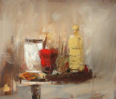Andree Thobaty - Still Life with Painter's Quills