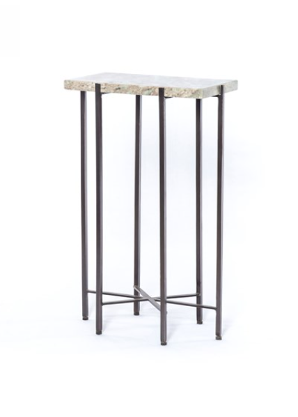 Iron and Marble End Table