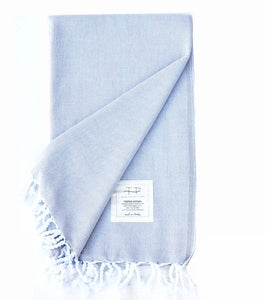Original Hand-Loomed Towel in Light Gray
