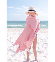 Load image into Gallery viewer, Original Hand-Loomed Towel in Coral