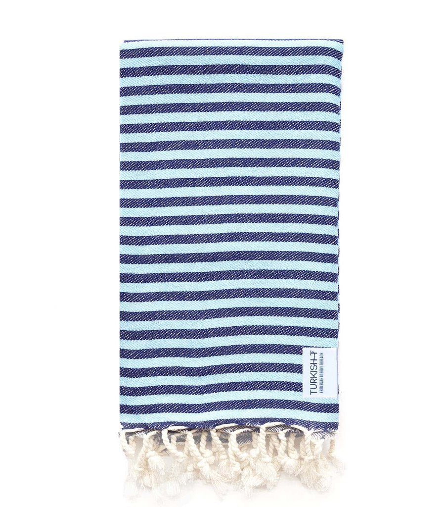 Beach Candy Towel in Navy and Light Blue