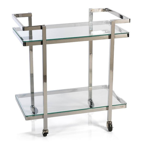 Veneto 2-Tier Glass Bar Cart