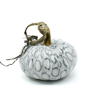 White Dot Plush Pumpkin