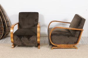 1950's Fautefil Chair with Burled Wood