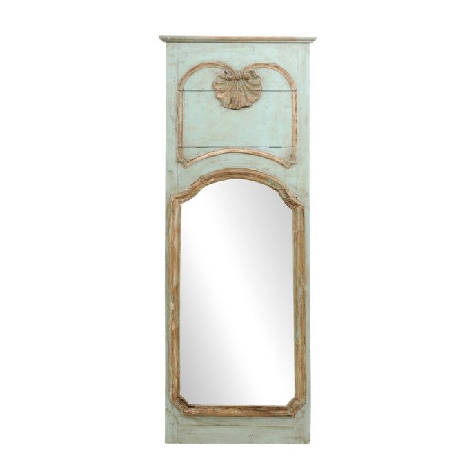 Painted Trumeau Mirror with Shell Motif
