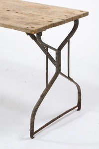 Rustic Console Table with Iron Legs
