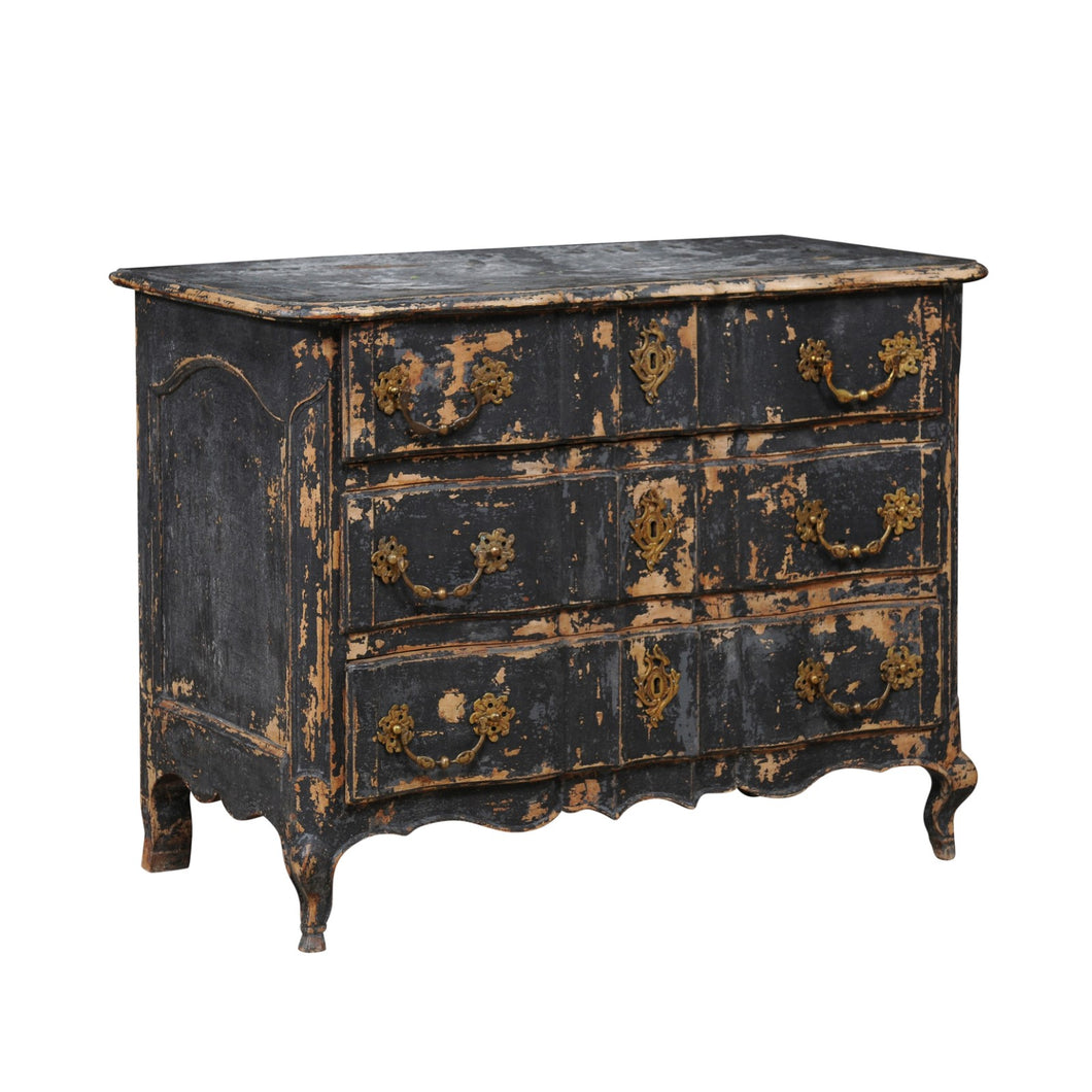 Louis XV 18th C Blackish Commode