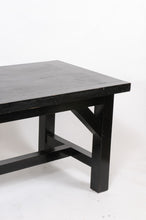 Load image into Gallery viewer, 1960s Parisian Oak Table Painted Black
