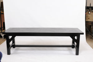 1960s Parisian Oak Table Painted Black