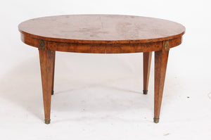 Burled Walnut Louis XVI-Style Oval Dining Table