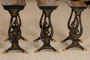 Set of Four 19th Century Chinoiserie Nesting Tables