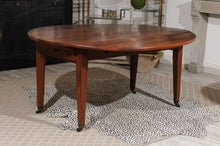 Load image into Gallery viewer, Drop Leaf Oval Walnut Table