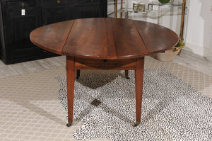 Drop Leaf Oval Walnut Table