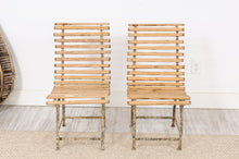 Load image into Gallery viewer, Pair of Wood and Iron Garden Chair