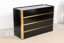 Load image into Gallery viewer, Vintage Black Lacquered Commode