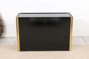 Vintage Black Lacquered Commode