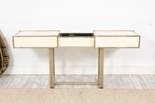 Load image into Gallery viewer, Lancel White Enamel Console