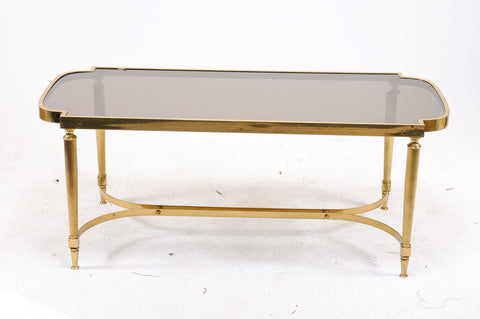 Bronze Coffee Table with Smoked Glass