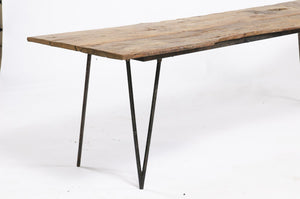 Walnut and Iron Console