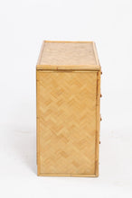 Load image into Gallery viewer, 1960s Rattan Commode
