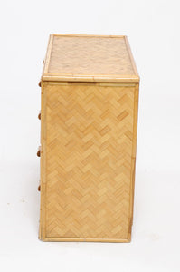 1960s Rattan Commode