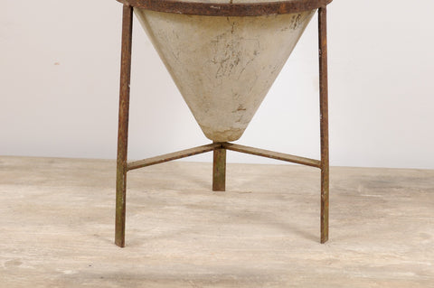 Willy Guhl Cone with Iron Stand