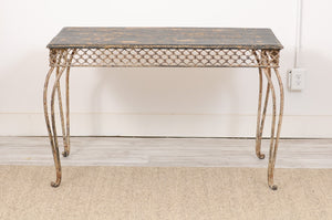 Late 19th Century Iron and Wood Garden table