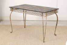 Load image into Gallery viewer, Late 19th Century Iron and Wood Garden table