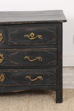 Load image into Gallery viewer, 18th Century Painted Black Parisian Louis XIV Commode