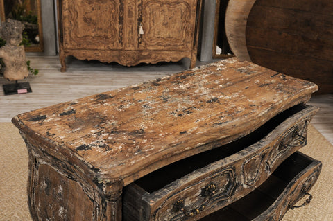 19th Century Louis XV Distressed Commode