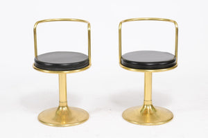 Leather and Brass Arm Chair