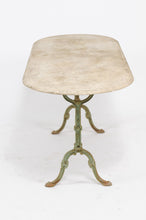 Load image into Gallery viewer, IRON BISTRO TABLE WITH OVAL MARBLE TOP
